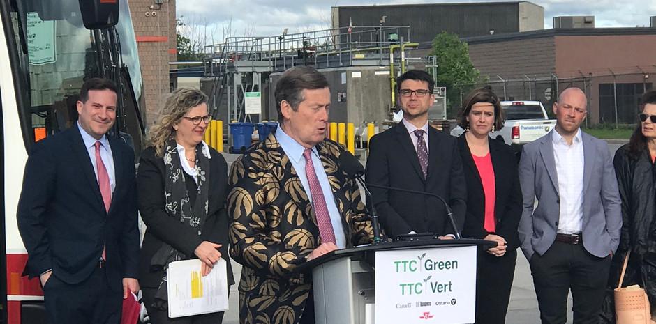 Mayor John Tory- Inauguration of North Americas largest Electric Bus Fleet