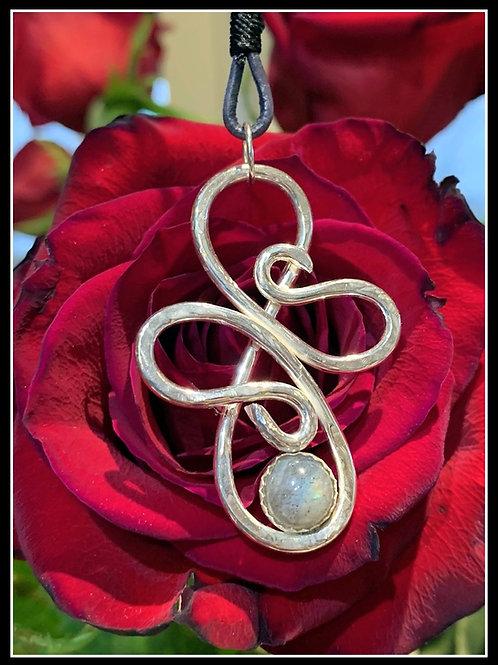 Swirl Cross Pendant