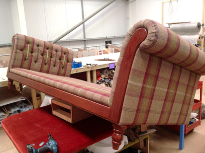 Fabric Chesterfield in progress