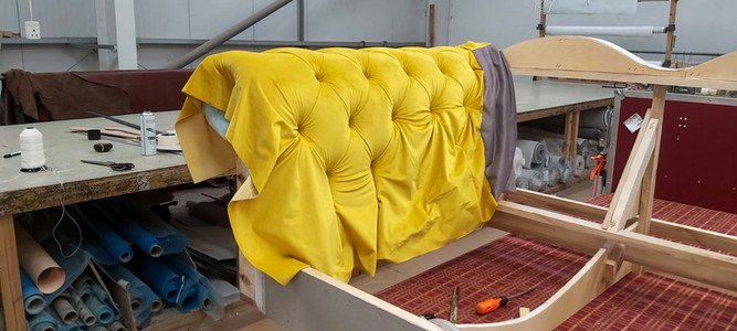 Yellow Chesterfield Under Construction