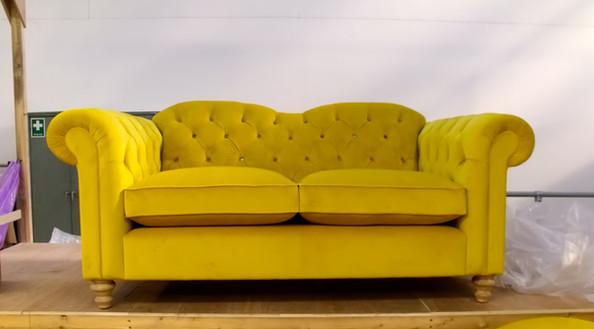 Yellow Chesterfield