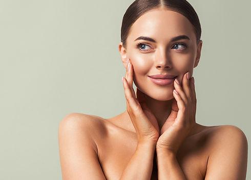 Skin tone woman face healthy skin beauty