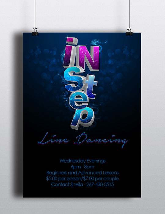 InStep Line Dancing Event Poster