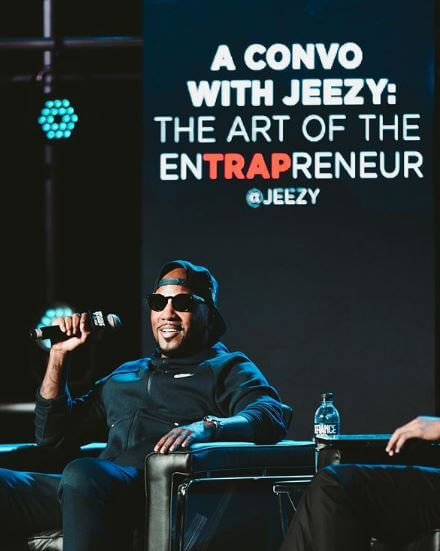 Jeezy speaking during 2019 REVOLT Summit in Atlanta, GA