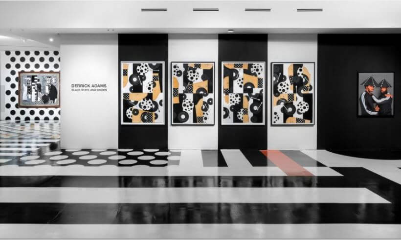 """Black White and Brown"" Art Exhibit by Derrick Adams"
