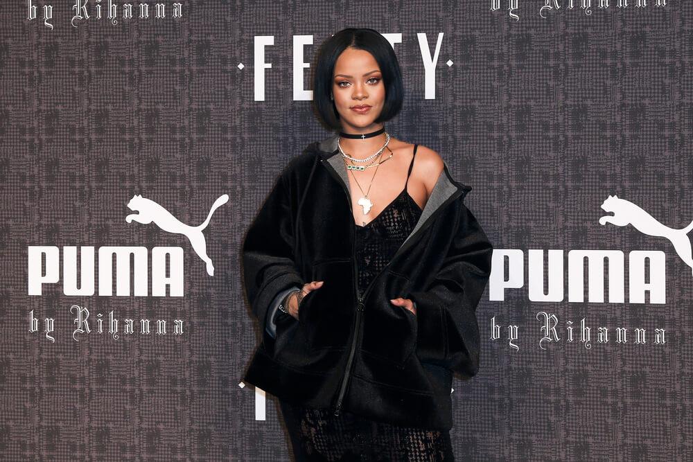 Rihanna at Fenty x Puma fashion show