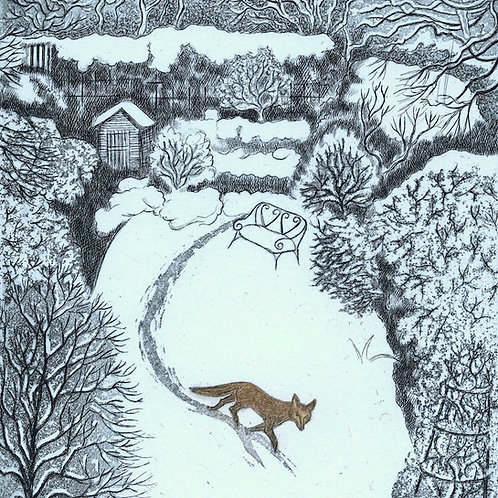 Elaine Marshall- Fox in Snow