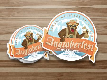 Augtoberfest stickers
