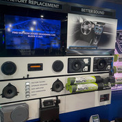 """The SoundShield display at Car-Tunes, Inc. helps Dalton easily sell the concept of """"Better Sound"""" to their clientele."""