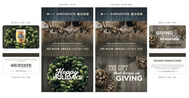 Holiday Gift Card designs with sleeve