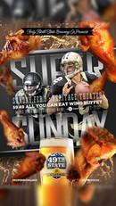 Superbowl promo poster