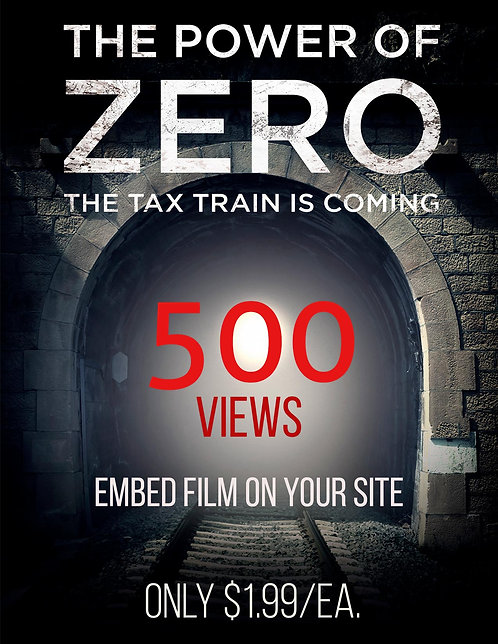 Embed the Film on Your Website 500 views $1.99/ea