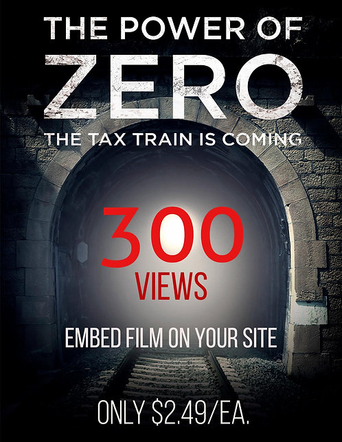 Embed the Film on Your Website 300 views $2.49/ea