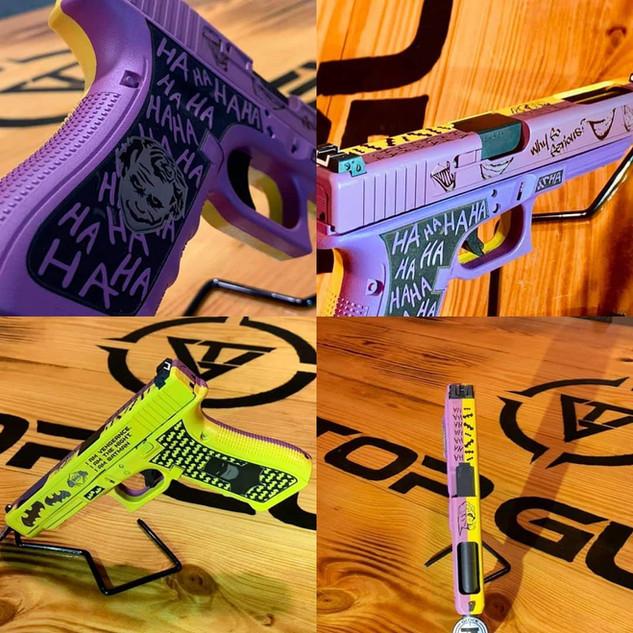 Good and Evil Cerakote Laser Engraving