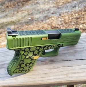 Zombie Green Custom Irish Glock