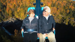 Air Canyon Older Couple on Ride