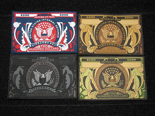 Camo Tax Stamp Patch Set