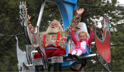 Santa Rudolph on Zipline