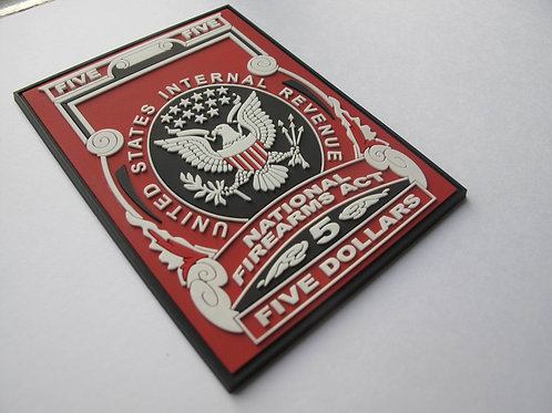 AOW $5 Tax Stamp PVC Patch