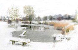 Sutcliffe Park Pond, Winter