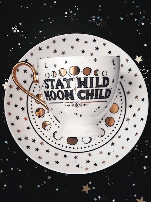 Stay Wild Moon Child - Tea Cup + Saucer