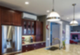 Mini Split Ductless in the Kitchen and Family room