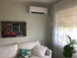 Mini Split Ductless in the Living and Family room
