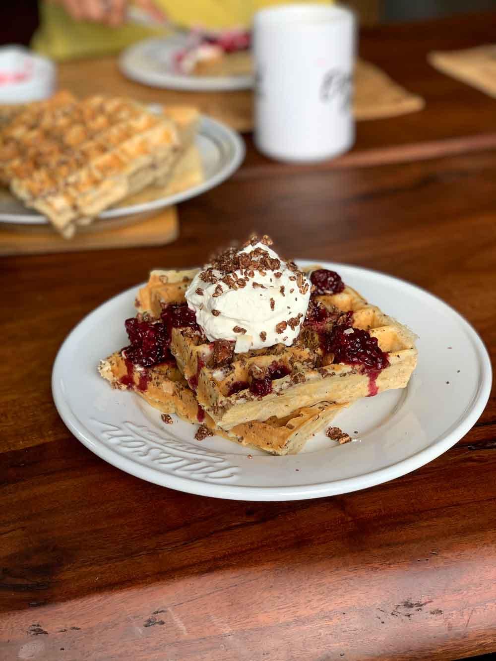 Elevated Oats Dark and Salty Belgium Waffle Recipe Anchorage Alaska