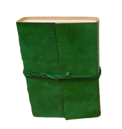 Large Journal in Green leather with 132 pages approx.