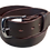 "Thumbnail: Stainless steel buckle on brown leather 1.5"" or 38mm wide"