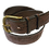 """Thumbnail: Embossed Pattern brown leather with brass buckle 1.5""""or 38mm wide"""