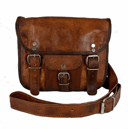 "9"" Wide Classic Leather Satchel 9WSWP"