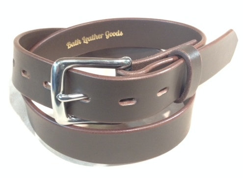 """1 1/4"""" brown saddle leather & s/steel buckle"""