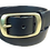 """Thumbnail: Brushed Brass buckle on black leather 1.5"""" or 38mm wide"""