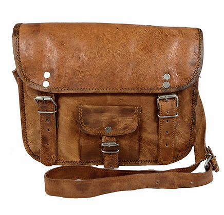 """11"""" Wide Classic Leather Satchel 11WSWP"""