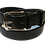 "Thumbnail: Stainless Steel Buckle on black leather 1.25"" or 32mm wide"