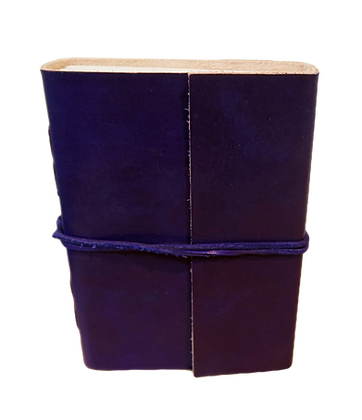 Small Journal in purple leather with approx. 132 pages