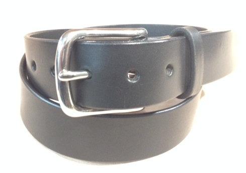 """1 1/2"""" black saddle leather & S/Steel buckle"""