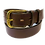"""Thumbnail: Brass buckle on brown leather 1.5"""" or 38mm wide"""