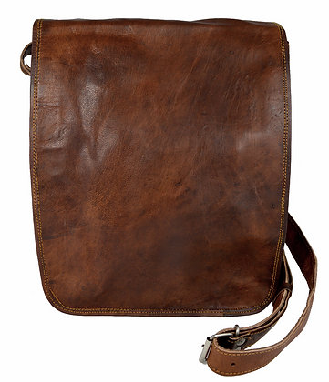 "13"" Long Leather Messenger Bag 13LM"