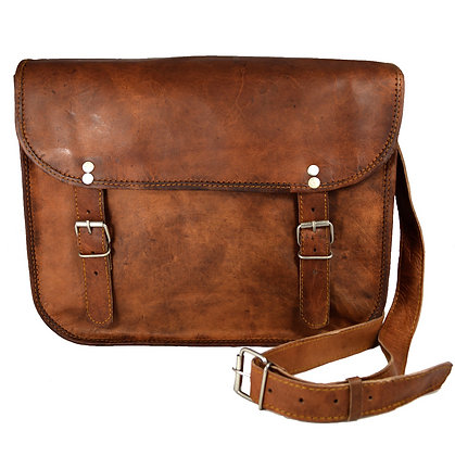 "13"" Wide Plain Fronted Satchel 13WSNP"