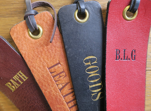Bath Leather Goods bookmarks embossing example