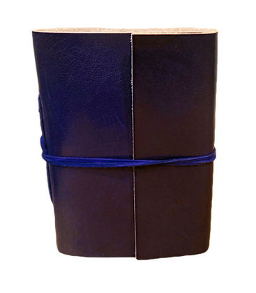 Pocket Size Journal in purple leather with approx. 40 pages
