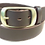 "Thumbnail: Brushed Brass buckle on brown leather 1.5"" or 38mm wide"