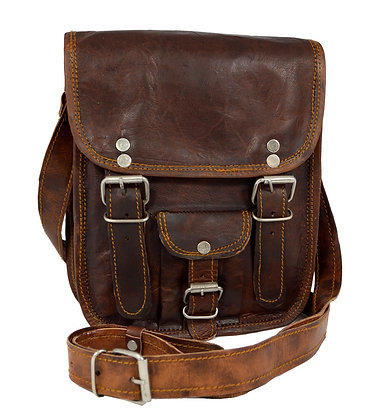 "9"" Long Leather Satchel 9LSWP"