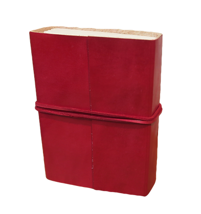 Large Journal in red leather with 132 pages approx