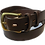 "Thumbnail: Brass buckle on brown leather 1.25"" or 32 mm wide"