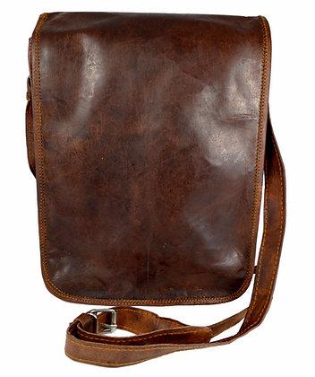 """11"""" Long Leather Messenger Bag 11LM"""