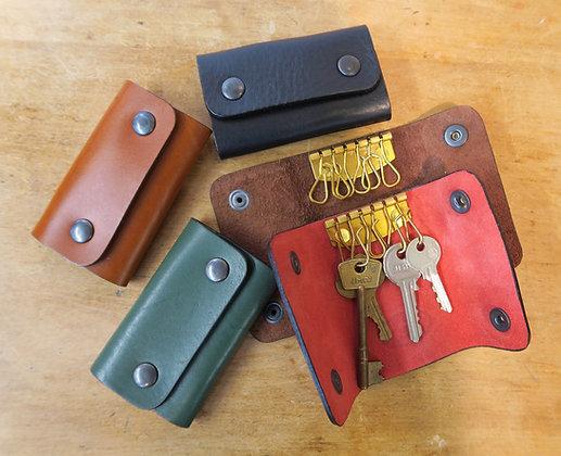 Range of colours for Bath Leather Goods folding keycase