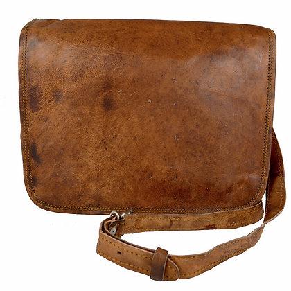 "11"" Wide Leather Messenger Bag 11WM"